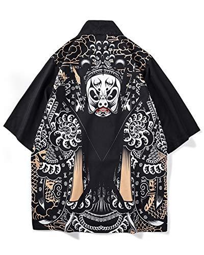 Hombre Camisa Kimono Hippie Cloak Estilo