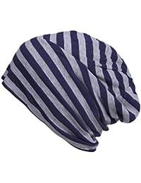 JTC Unisex Men Women Skull Caps Hip-hop Striped Elastic Slouch Beanie Ladies Winter Knitted Hats