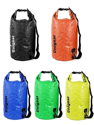 Trockentasche Dry Bag Wasserdichter Sack Wasserfester Packsack Trockenbeutel zum Bootfahren Wandern Kajaken Kanufahren Angeln Schwimmen Skifahren Snowboarden mit wasserdichter Handyhülle