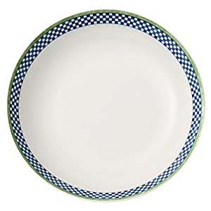 Villeroy & Boch Switch 3 Castell Soup Plate, 21 cm, Porcelain, White/Blue/Green