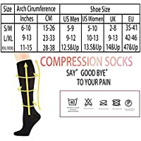 Compression Socks (7 pairs) for Women & Men-for Medical, Nursing, Running & Fitness, Edema, Diabetic, Varicose Veins, Travel & Flight, Pregnancy, Nurses-Blood Circulation & Recovery (Black, L/XL)