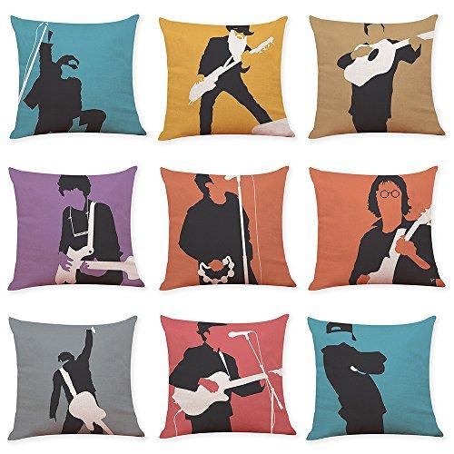 Spielen 9 Pcs Dekoration Quadrat Kissenbezug Dekokissen Für Zuhause,Baumwolle Leinen Kissenhüllen Für Sofa Zimmer Auto 18 X 18 Inch, 45Cm X 45Cm ()