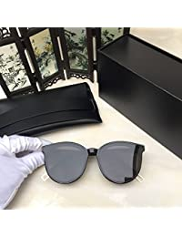 Lunettes de Soleil Polarisées Wayfarer Women's Glasses Metal Flat lenses Vintage Fashion Mirrored Oversized Sunglasses for the owner MOBIUS Sunglasses-black frame transparent lenses opTMVO
