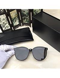 Lunettes de Soleil Polarisées Wayfarer Women's Glasses Metal Flat lenses Vintage Fashion Mirrored Oversized Sunglasses for the owner MOBIUS Sunglasses-black frame transparent lenses