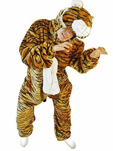 Tiger-Kostüm, F14 Gr. XL, Für hochgewachsene Männer und Frauen, Tiger-Faschingskostüm, für Fasching Karneval Fasnacht, Karnevals-Kostüme, Faschings-Kostüme, Geburtstags-Geschenk - Frau Trägt Mann Kostüm