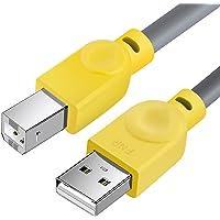 Câble MIDI USB B pour Instruments [1.5M/5FT], Fansjoy Câble USB A vers USB B, Compatible avec Clavier MIDI, Contrôleur…