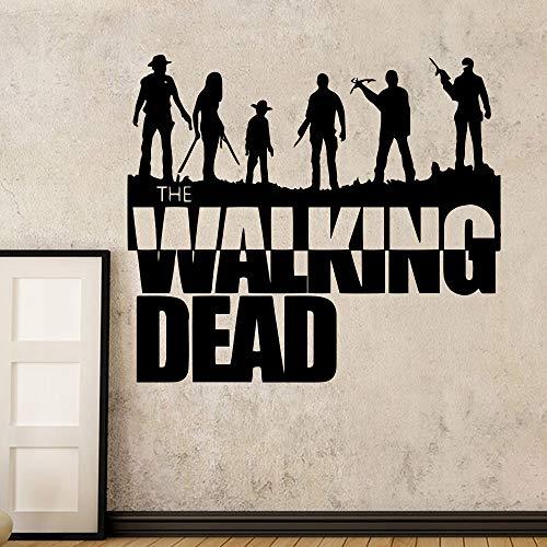 Klassische Walking Dead Applique Aufkleber Wandkunst DIY Poster Raumdekoration Schlafzimmer Dekoration Tapete Wandaufkleber 120 cm X 104.4 cm -