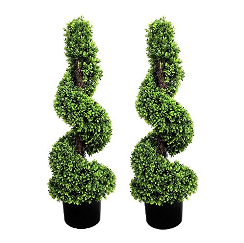 Greenbrokers limited pianta artificiale 2 x spiral trees (0,9 m/90 cm)