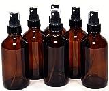 6 New, High Quality, 4 oz Amber Glass Bo...