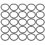 sourcing map 25pz nero 25mm diametro esterno 1,5 mm spessore anello di tenuta a forma O occhiello in gomma