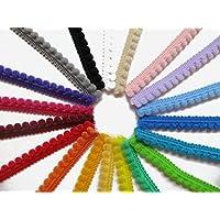 Mini mignon pompons galon à coudre Craft au mètre 3mm élastiques à frange £ 1.39par Accessoires grenier® 3mm noir