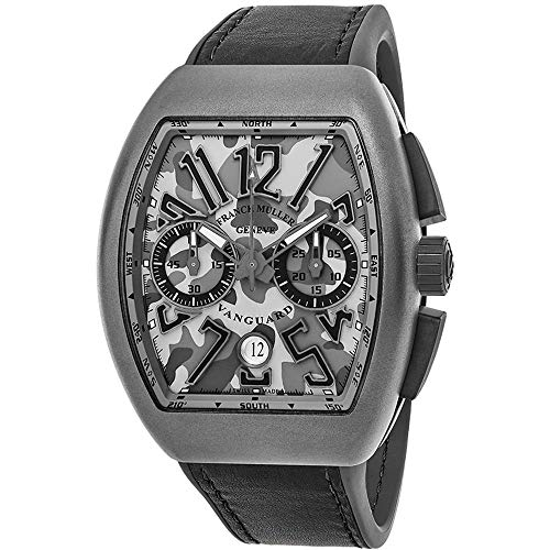 Franck Muller Men's Vanguard Grey Leather Band Automatic Watch 45CCCAMGRY