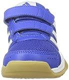 adidas Unisex-Kinder Interplay CF K Hallenschuhe, Blau (Blau/Weiß/Rosa), 29 EU - 4