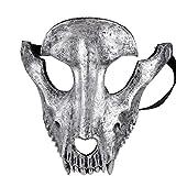 Amosfun Maschera di Teschio di Halloween Maschera di Pecora per casa stregata Cosplay Travestimenti