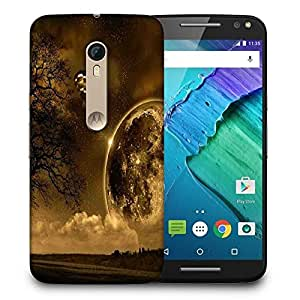 Snoogg Black Earth Printed Protective Phone Back Case Cover For Motorola X Style