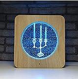 Led geschenk leuchten grenzüberschreitende Kreative produkte Acryl holz getreide nachtlicht 3d personalisierte tischlampe nachtlicht