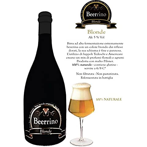 Beerrino Blonde - 6 bottiglie di birra Speciale Artigianale da
