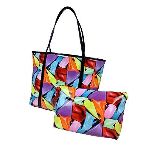 Generic ,  Mädchen Damen Strandtasche Colored Scarf