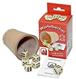 Dice tazza con 6 dadi [importato dalla Germania]