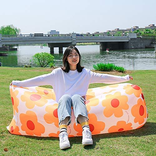 Aufblasbares Sofa, Outdoor Faul Aufblasbare Sofabeutel Luftmatratze Wilde Luftkissen Bett Stuhl Tragbare Einzelne Faltung Air Lounger Zum Schlafen Im Freien, Im Innenbereich, Aufblasbarer Sitzsack