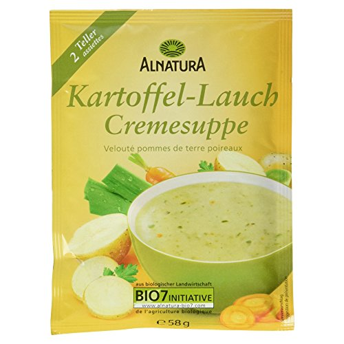 Alnatura Bio Kartoffel-Lauch-Suppe, 15er Pack (15 x 58 g) (Deutsche Kartoffel-suppe)
