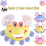 Vovotrade Hot Funny Baby Toddler Hochet Cadeau Crabe Modèle Main Bells 2018 Mignon Éducation Jouet Rattle Gift Crab Model Hand Bells Cute Education Toy (Random)