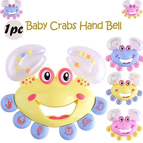 JIUZHOU Spielzeug-Shop, lustig, Rassel für Babys, Kleinkinder, Krabben-Modell, Handglocken, 2018 süßes Lernspielzeug