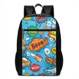 Colorful Comic Style Laptop Backpack for Women Men,School College Backpack Travel Backpack Fits 17 inch Notebook (12' L X 6.5' W X 17' H in)