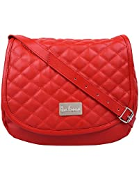 Anekaant Duvet Red PU Sling Bag