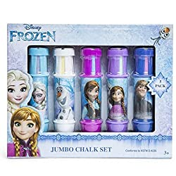 Jumbo Chalk Set for Frozen Summer Kids Fun Activities