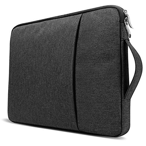 Egotude Laptop Pouch Sleeve Bag with Handle and Pocket Water Resistant for MacBook Air/Pro (13-13.3 inch, Black)