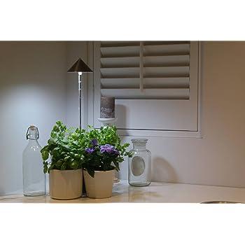 led wachstumslampe f rs zimmer graphit 7 watt pflanzenleuchte pflanzenlicht licht f r pflanzen. Black Bedroom Furniture Sets. Home Design Ideas
