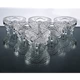 King International Crystal Glass Desert Bowl With Hand Cut Design | Pudding Bowl Set Of 6