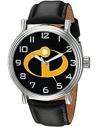 Disney Men's 'Incredibles 2' Quartz Metal Casual Watch, Color Black (Model: WDS000580)