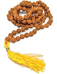 Certified Natural 100% Original Rudraksha Mala With Certificate Of Authenticity 4 Mm Beads