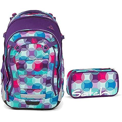 Satch–Zaino da scuola, Set di 2Match Hurly Pearly 9C0pois colorati