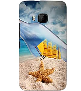 HTC ONE M9S BOTTLE SHIP Back Cover by PRINTSWAG