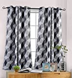 Best Home Fashion Thermal Blackout Curtains - MYSKY HOME 3D Geometry Fashion Design Print Thermal Review