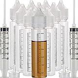 Bottiglia liquida del applicatore del liquido della bottiglia della ricarica della bottiglia del contagocce dell'ANIMALE DOMESTICO morbido di 10pcs 60ml (60ml x 10pcs, Bottiglia bianca + tappo bianco)