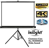 Inlight Cineview Series Tripod Type Projector Screen, Supports UHD, 3D and 4K Ready