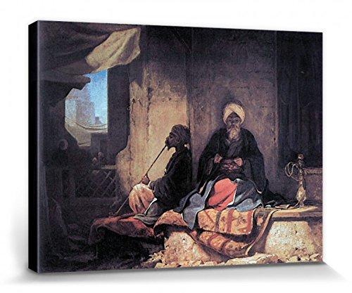 1art1 111750 Carl Spitzweg - Im Türkischen Basar, 1860 Poster Leinwandbild Auf Keilrahmen 40 x 30...