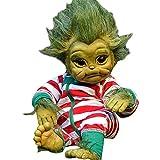Baby Grinch Toy Realistic Cartoon Doll,grinch toys,baby doll,girl toys,halloween dolls A