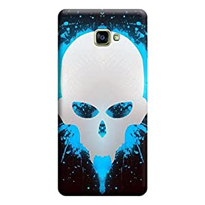 Samsung A3 2016 A310 Minimalistic Skull Premium Designer Polycarbonate Hard Back Case Cover with full Protection