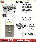 AXT-Electronic Set 5bs - Hühnerklappe mit Batterien, Mechanische Zeitschaltuhr, manuelles Schließen möglich, Gänse
