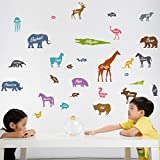 GalaxyComfort Original Jungle Animals Wall Stickers For Kids Rooms - Multicolor
