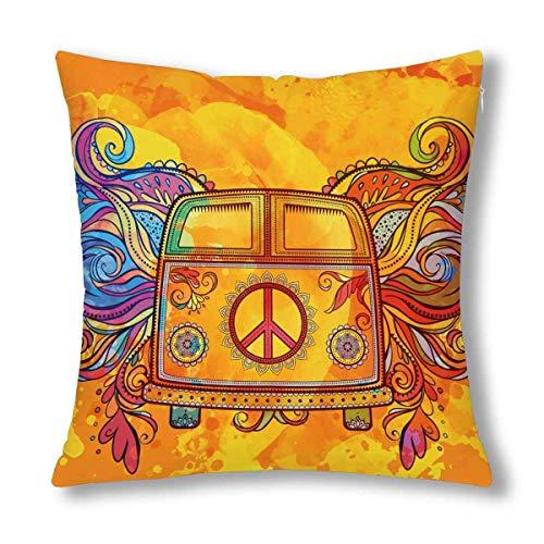Mini-Van mit Peace-Zeichen Kissen Protector Pillowwith Zipper Throw Pillow Home Decor ()