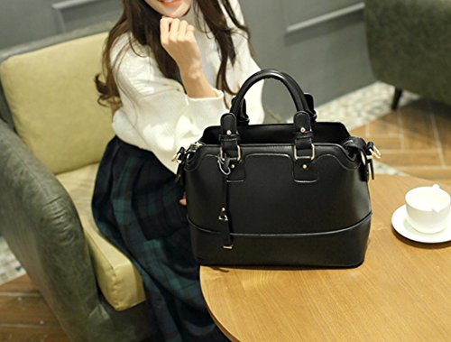 X&L Women's Mode Handtasche Umhängetasche diagonal Black