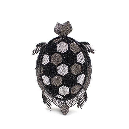 WYB Europäischen und amerikanischen Luxus-Diamant-Abendbeutel / Hand über Bohr hochwertigen Kristall-Bankett Black