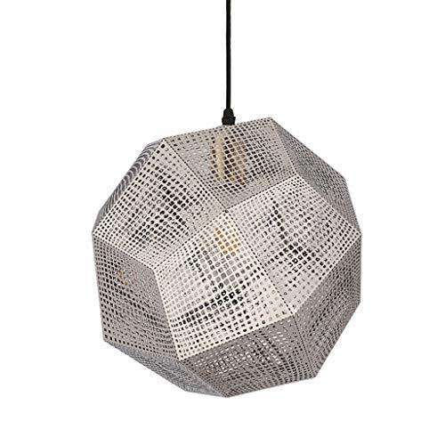Health UK chandelier- Lámpara de techo de bolas multifacética, cromo pulido Lámpara de araña geométrica contemporánea Lámpara de chispa de acero inoxidable para sala, comedor, vestíbulo, bar, restaura
