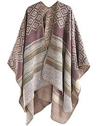 Salybaby Mode Châle Femme Cachemire Grand Taille Écharpe Large Cape Poncho  Losange Chaud d Hiver cd23917827c
